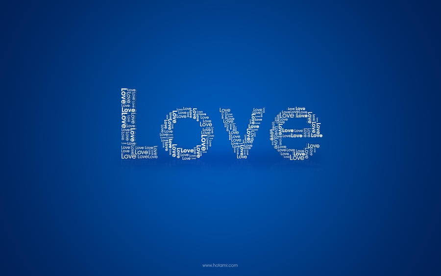"LOVE Wallpaper ""Blue"" by hotamr"
