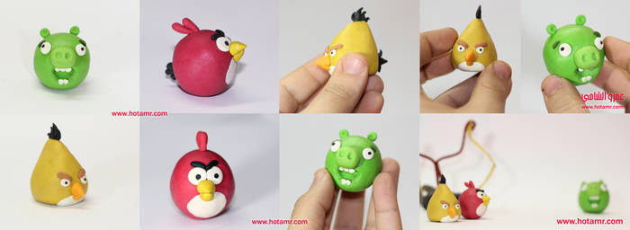 Angry Birds clay