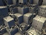 Futurity of Deco-Cubist Architecture in Gray