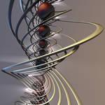 Helix of Spheres