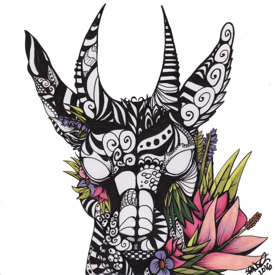 Blooming Impala by DemonicZentangle