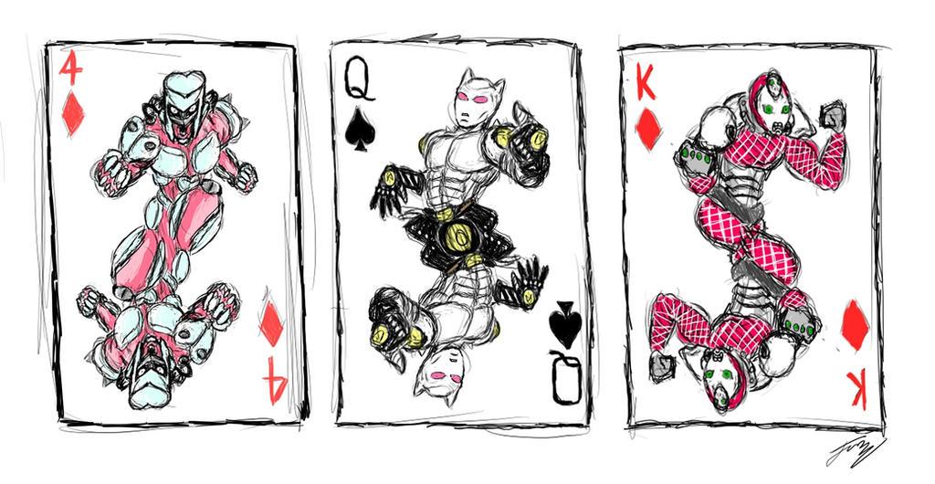 Stand Designs Jojo : Jojo stand playing cards by jo r e on deviantart