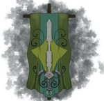 Decorative Sword and Banner by HellmoonHV