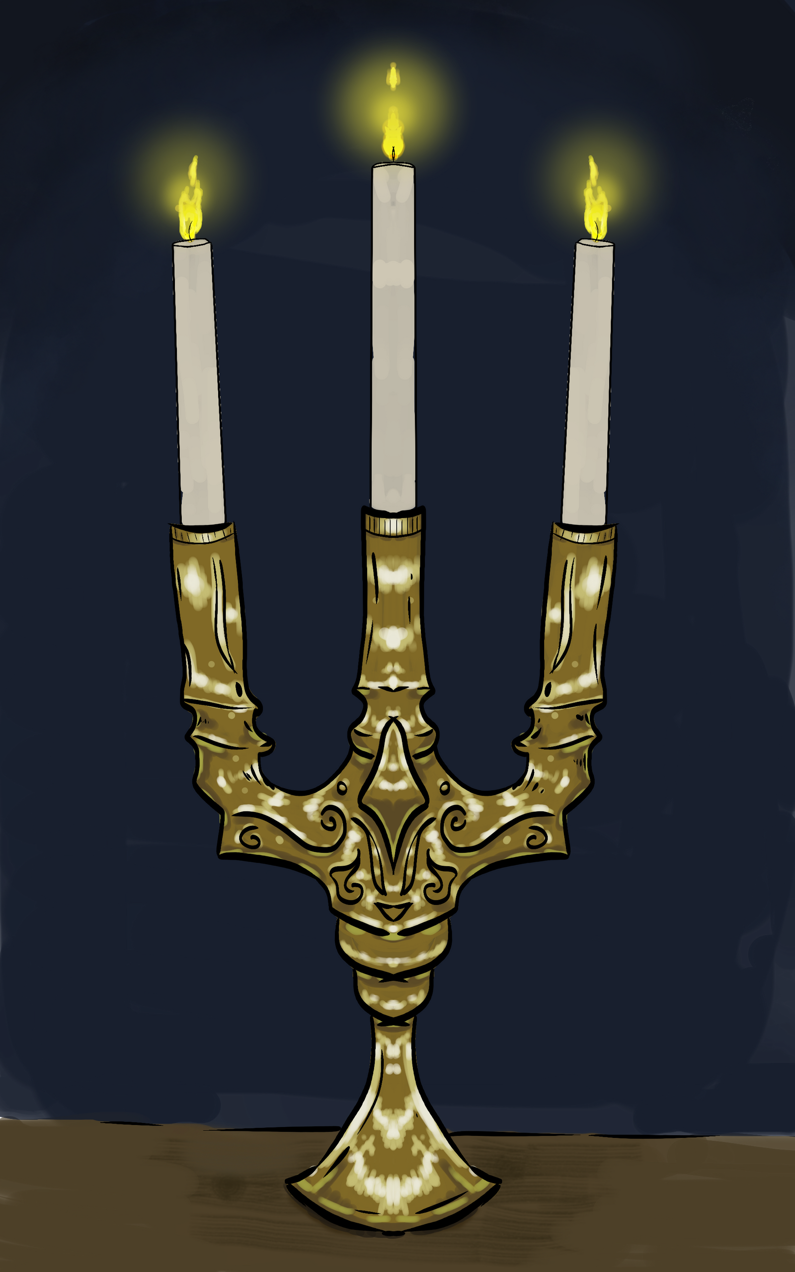 candlestick sketch by ashenmoons on deviantart