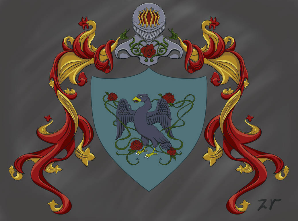 Rose Themed Heraldry by HellmoonHV