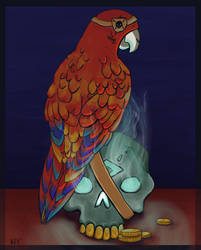 Sea of Thieves Parrot by HellmoonHV