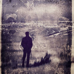 untitled (man and windmills) by filmnoirphotos