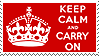 Keep Calm and Carry On stamp by Bourbons3