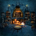 Forbidden Library by JoeDiamondD