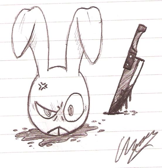 SketchDumpShowcase 11 - Psychotic Rabbit by ChazFullmetal