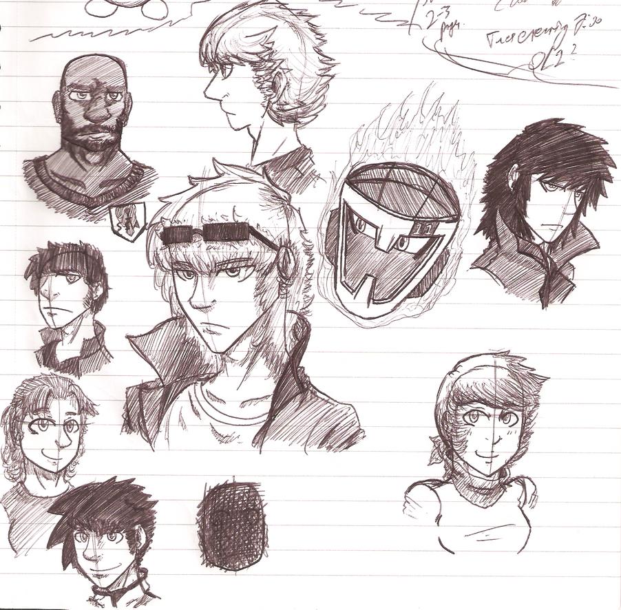 SketchDumpShowcase 18 - The Forgotten Ones by ChazFullmetal