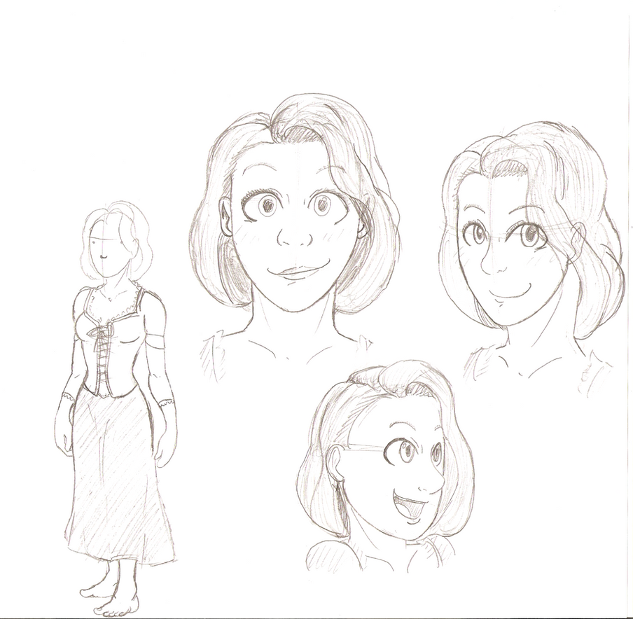 'Punzel Practice sketches by ChazFullmetal