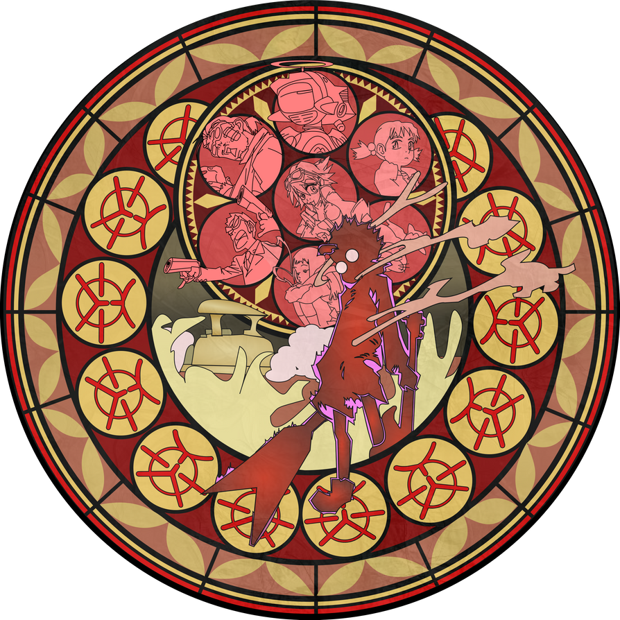 FLCL Stained Glass by Otaku-X
