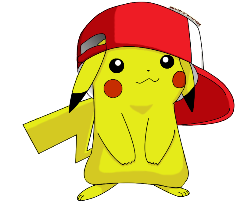 Cute Pikachu with Hat