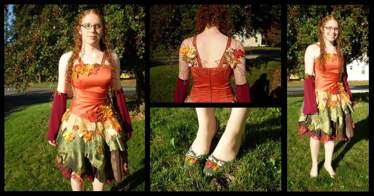 autumn fairy costume by ladyculfin