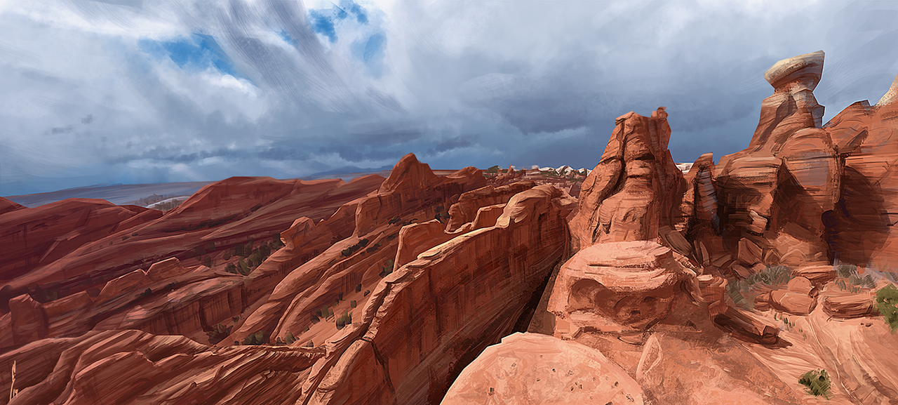 Virtual Plein Air : Moab by MissWiggle