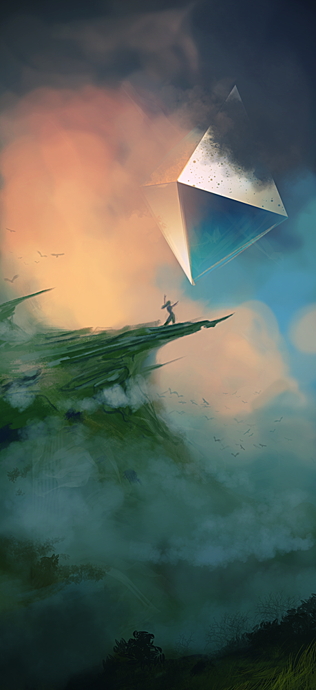 Spitpaint :: Misty Hill + Interdimensional Portal by MissWiggle