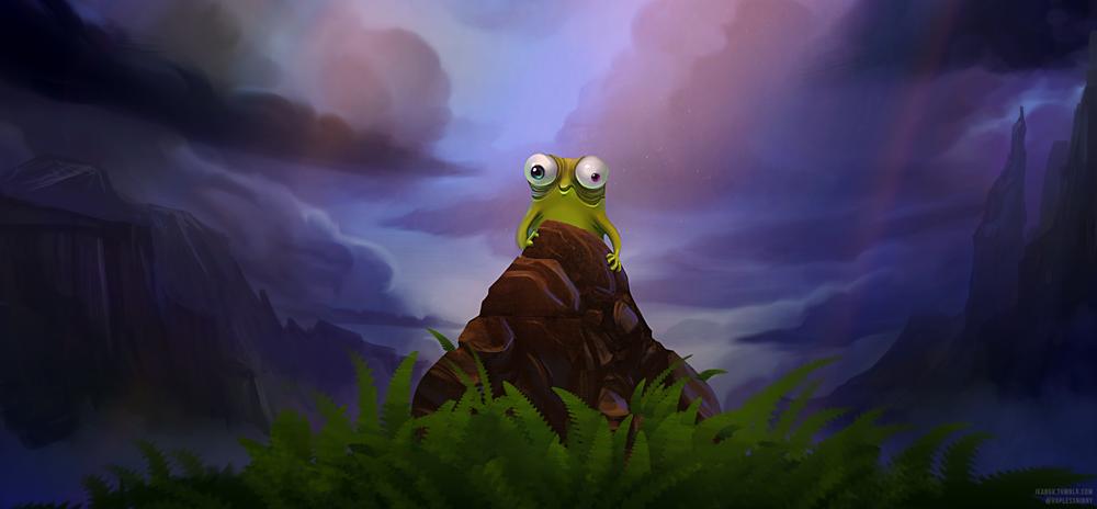 Fanart Friday :: Weird Alien Frogs by MissWiggle
