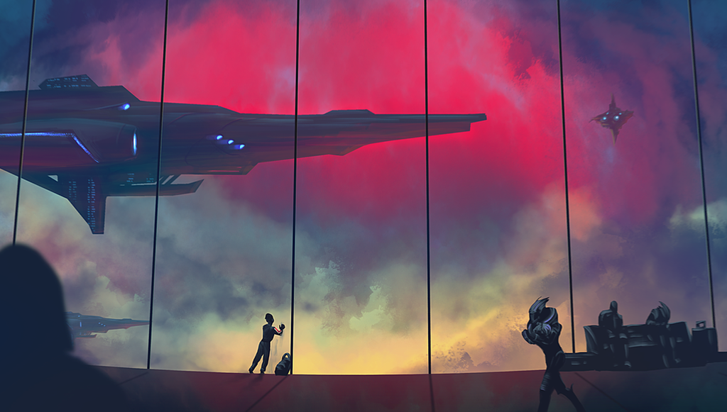 Fanart Friday :: Femshep's First Layover by MissWiggle