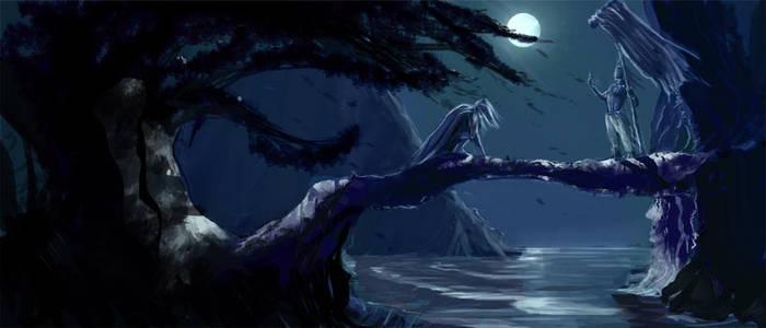 Sketch :: Moonlit Lovers
