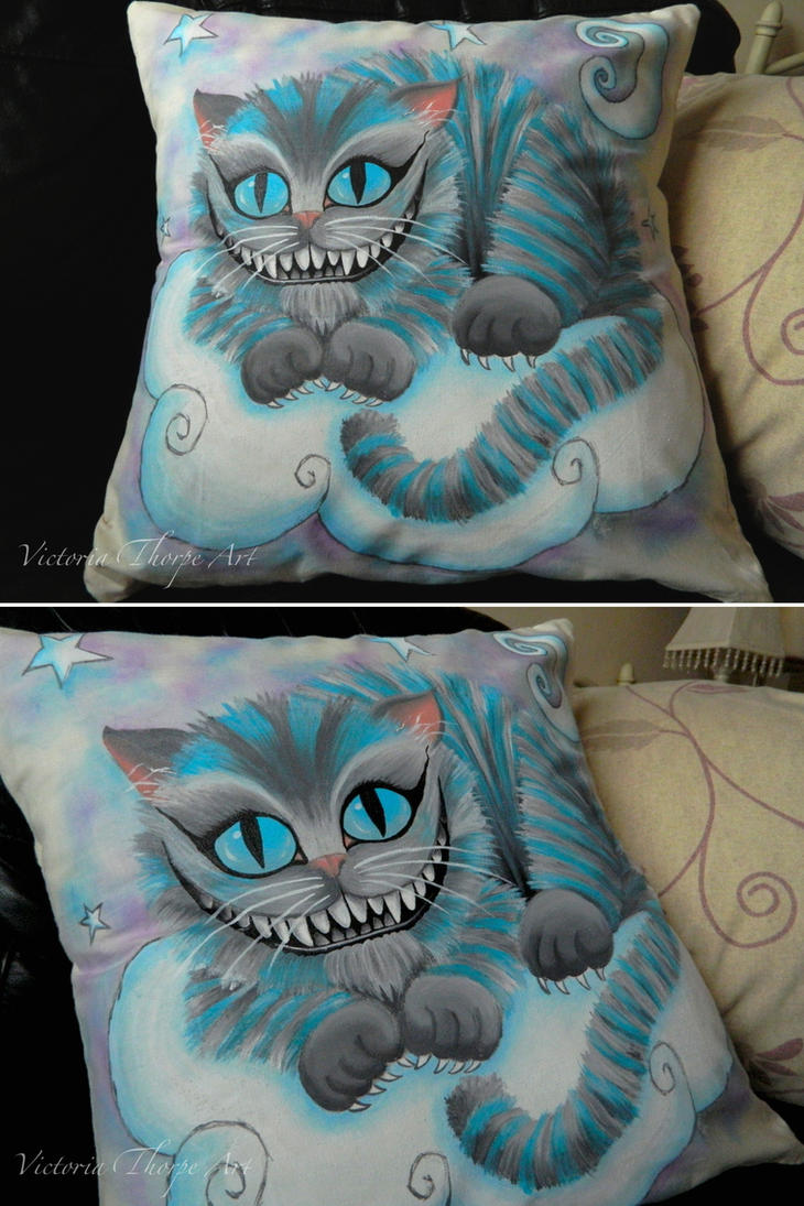 Cheshire Cat Cushion Commission! by VictoriaThorpe
