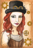 Steampunk Self Portrait by VictoriaThorpe