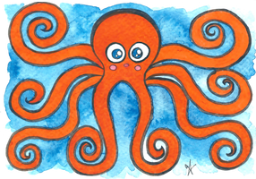 Kawaii Octopus by VictoriaThorpe