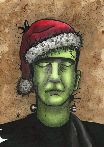 Frankenstein's Monster Christmas by VictoriaThorpe
