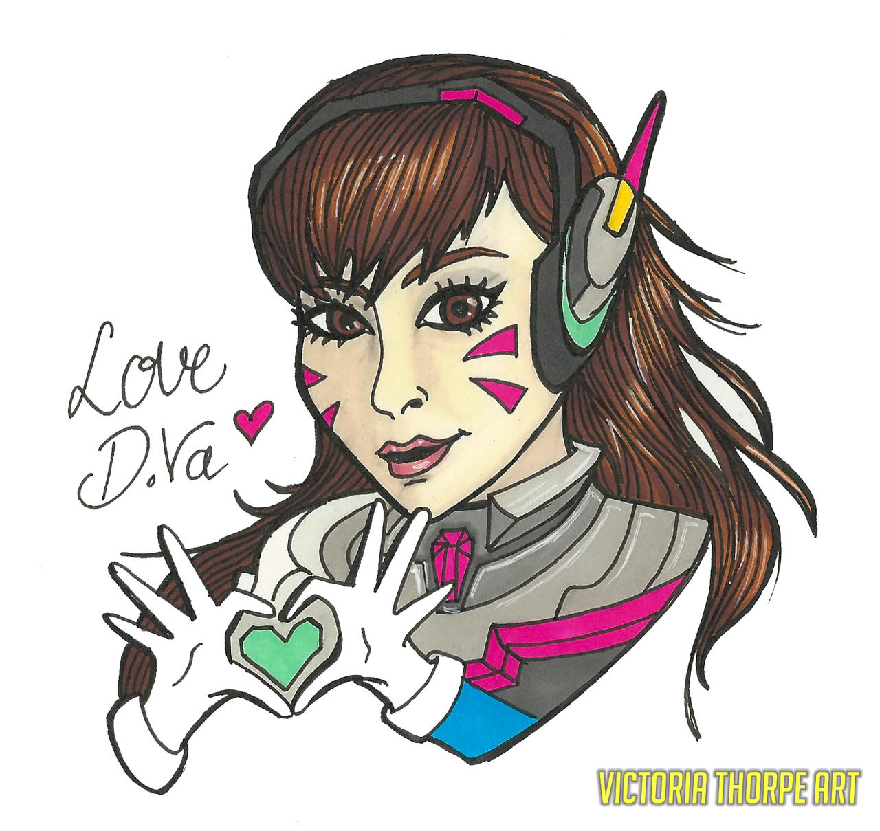 Love D.Va by VictoriaThorpe