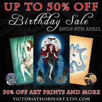 I have an up to 50% off sale on etsy!