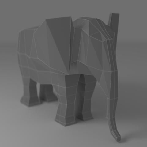 Elephant Render by watakach