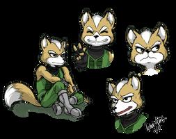 Fox expressions sketch by icha-icha