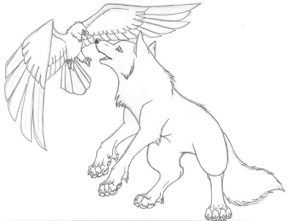 wolf drawings coloring pages - photo#26