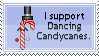 Dancing Candycane Stamp by Abfc
