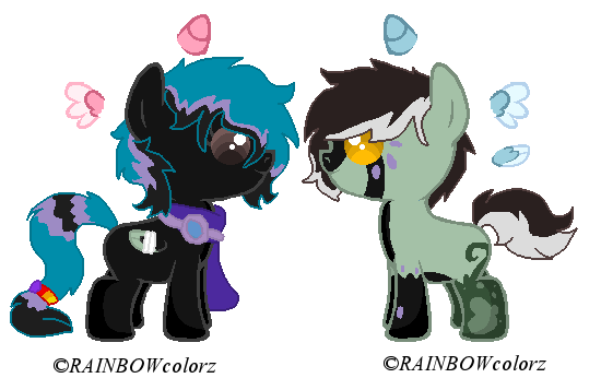 Darksong foals 2 by Kyah-Pony-Adoptables