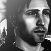 Jowan Icon 2 - Black and White by LadyBoromir