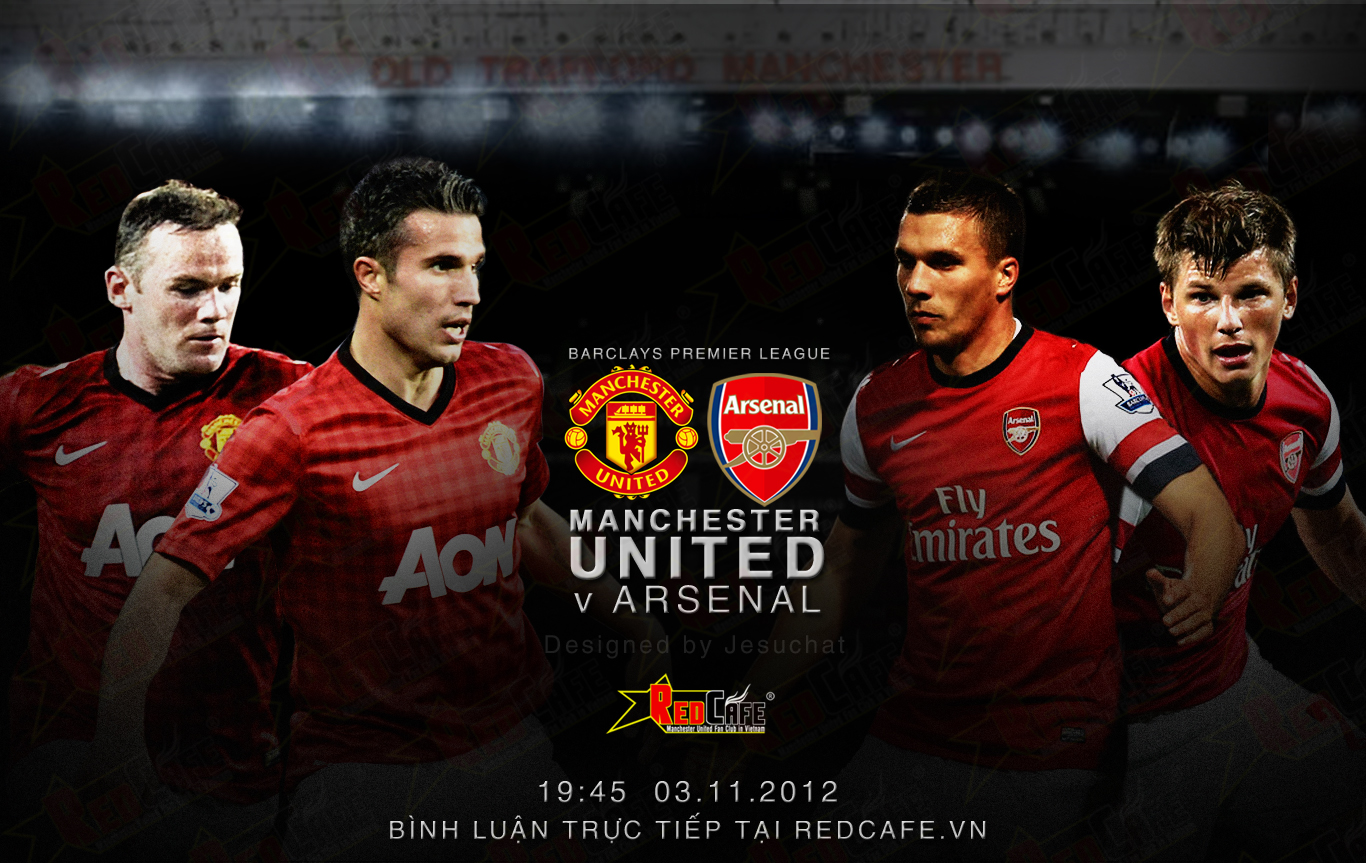 arsenal v manchester united Photo