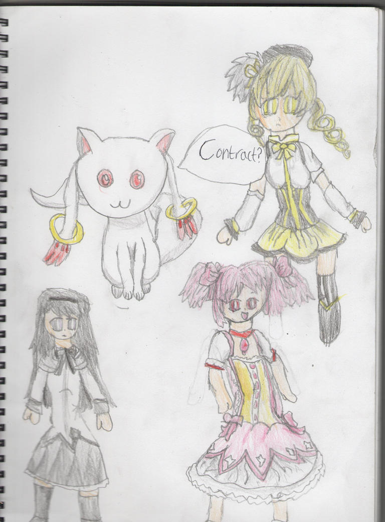 Random Madoka Magica Drawing By Skittysrule