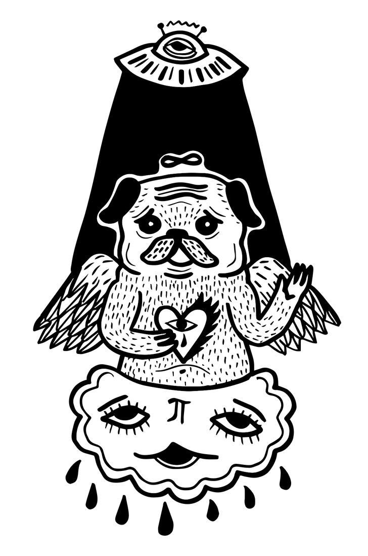 holy pug by arturasrozkovas