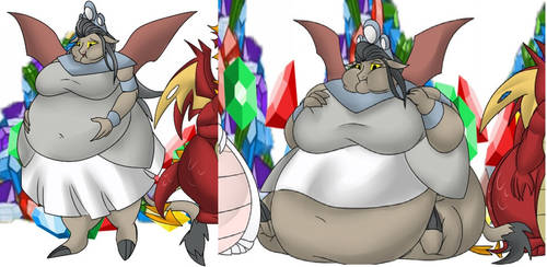 Fat Queen Haydon, a Collage from a couple pictures by boogerejean