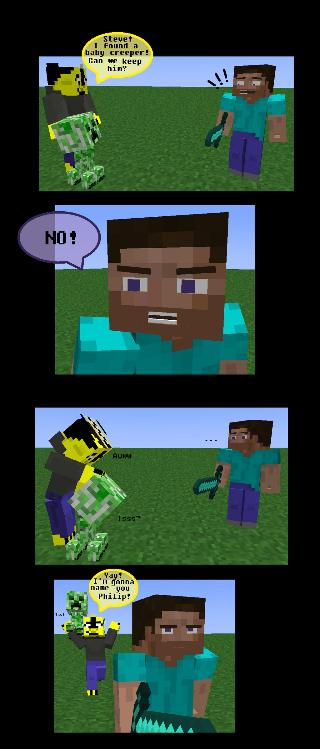 how to get charged creeper in minecraft ps3
