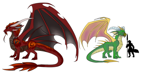 [Spyro] Ancient Dragons by kittin12376