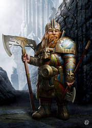 Dwarf lord by DavidGaillet