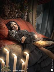 Queen Morgan dyed black