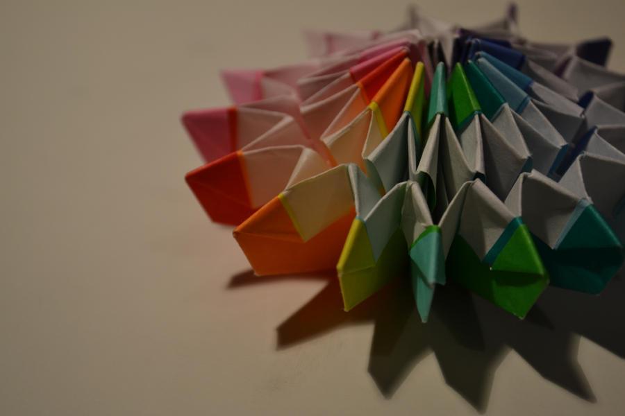 Origami Firework by BlackIceKitten