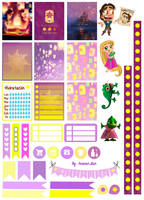 Rapunzel/Tangled Printable Stickers by AnacarLilian