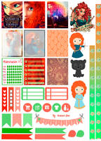Merida/Brave - Printable Stickers by AnacarLilian