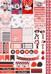 Minnie Love - Printable Stickers