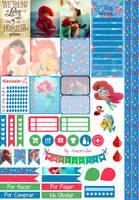 Little Mermaid - Printable Stickers