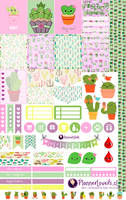 Kawaii Cactus Printable Stickers by AnacarLilian